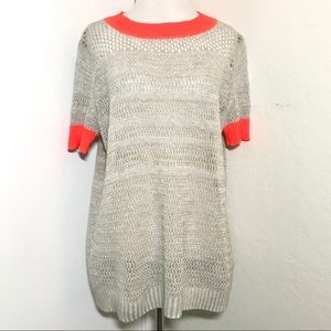 Anthropologie Moth Brand Short Sleeve Knit Top